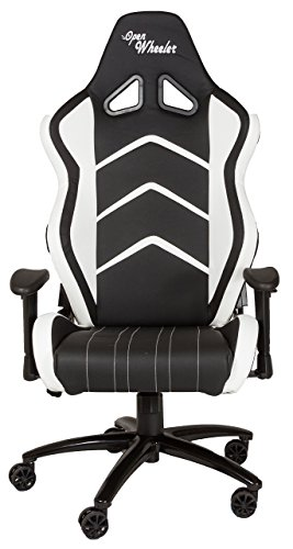 OpenWheeler, Leather White Racing Style Gaming Chair.