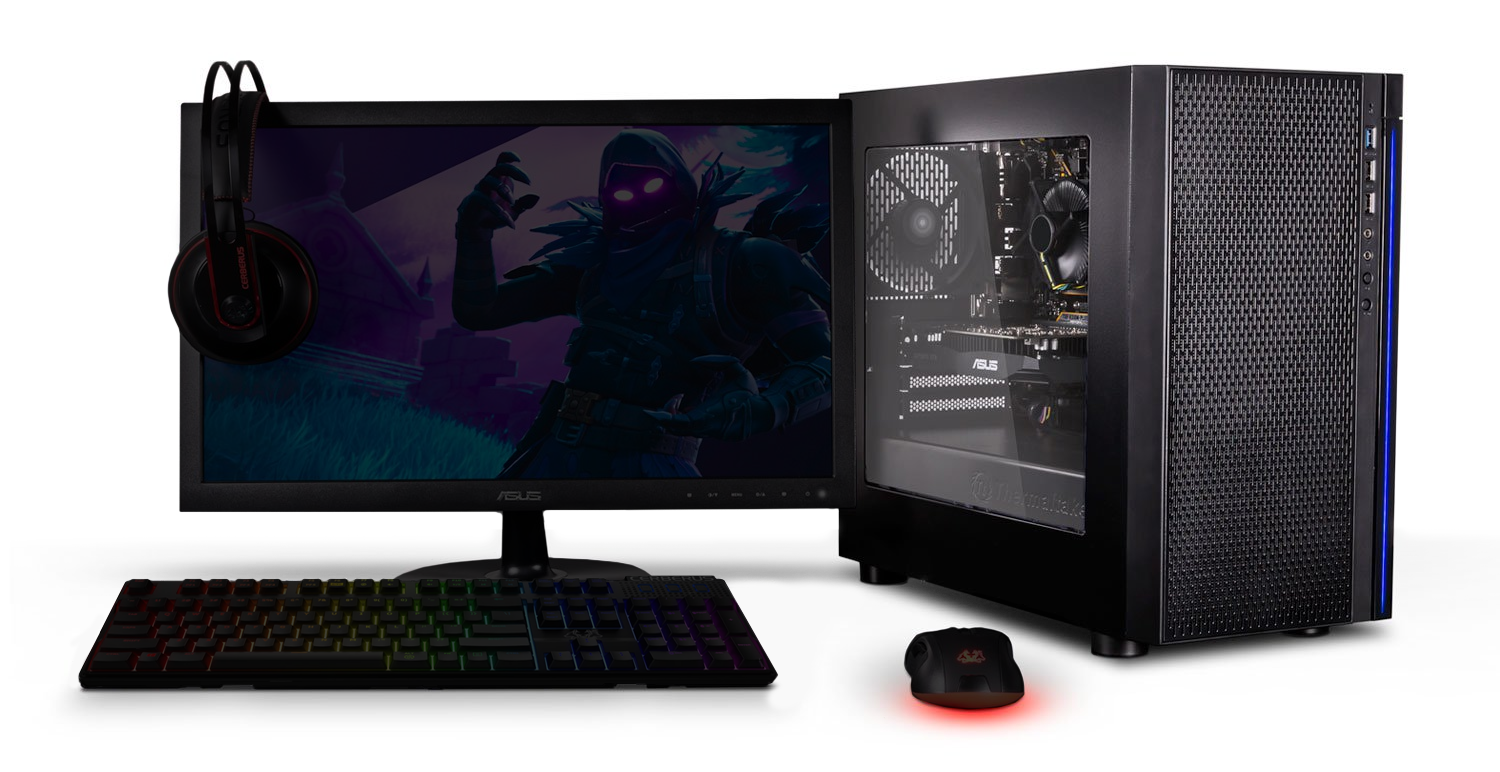 Gaming PC with Intel Quad Core CPU and NVIDIA GTX GPU with ASUS.
