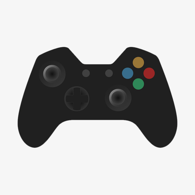 Black Game Controller Buttons, Game, Handle, Button PNG Transparent.