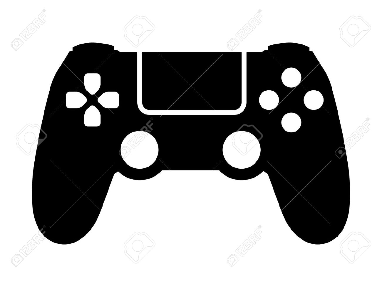 Video game controller / gamepad flat icon for apps and websites.
