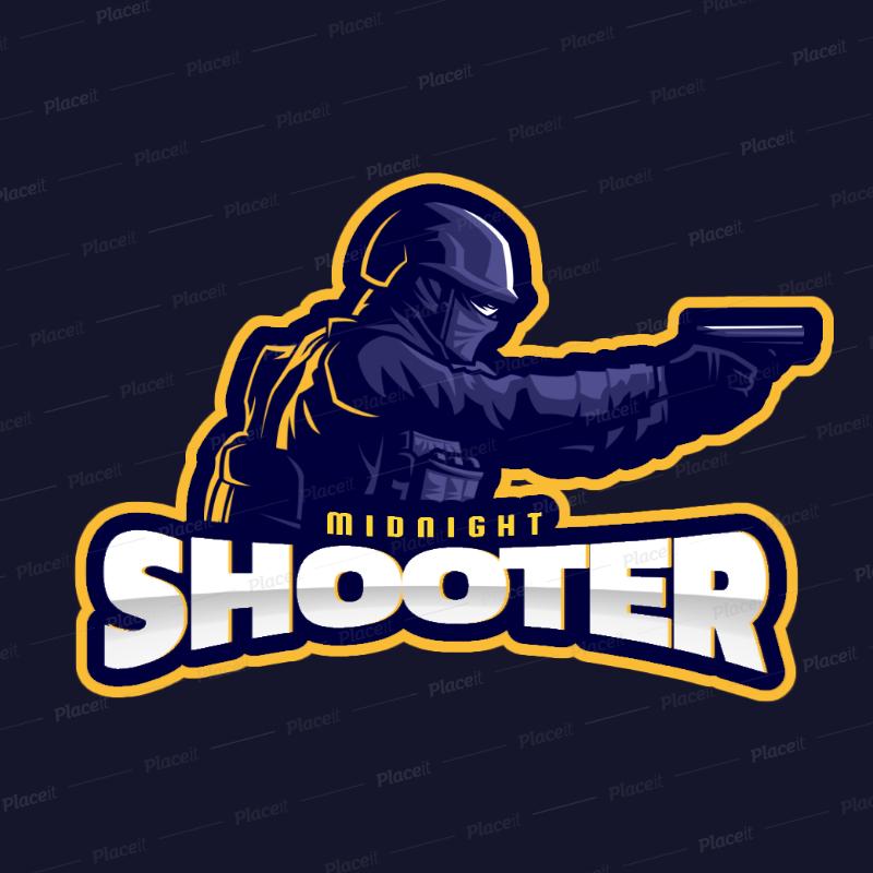 Gaming Logo Maker for an FPS Video Game Team 2449q.