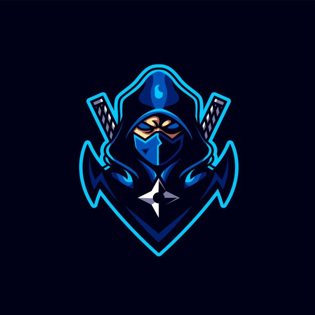 Ninja esport gaming logo Vector.
