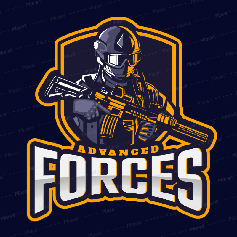 Gaming Logo Creator for a Special Forces Themed Game 2449w.