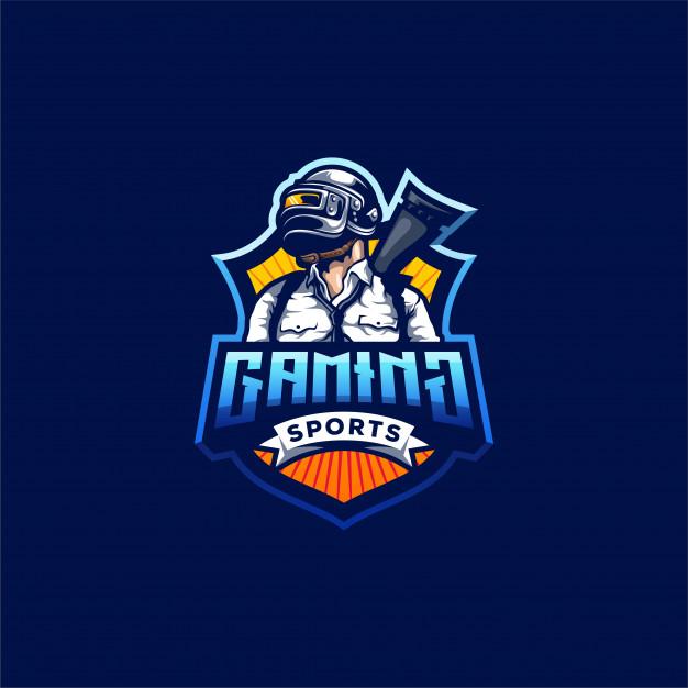 Pubg gaming logo design Vector.