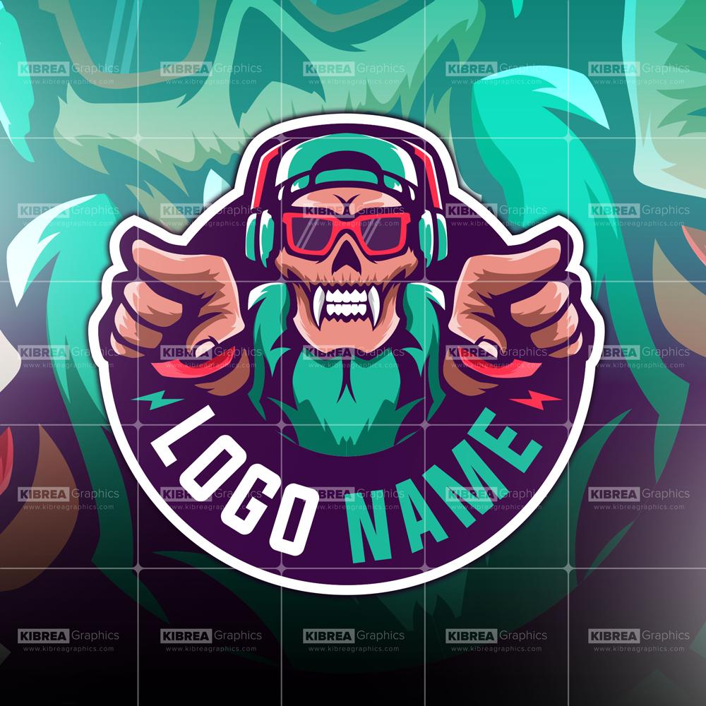 skull gaming logo.