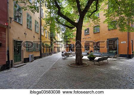 "Pictures of ""Branda Tomten square, Gamla Stan, Stockholm."