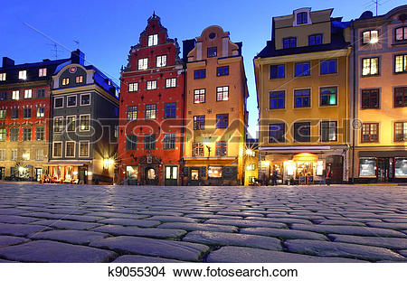 Stock Photo of Stortorget in Gamla stan, Stockholm k9055304.