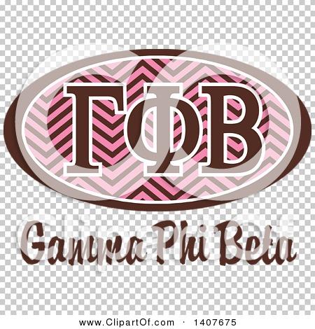 Clipart of a College Gamma Phi Beta Sorority Organization Design.