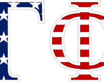 Gamma phi beta flag.