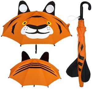 Kids Orange Tiger Umbrella.