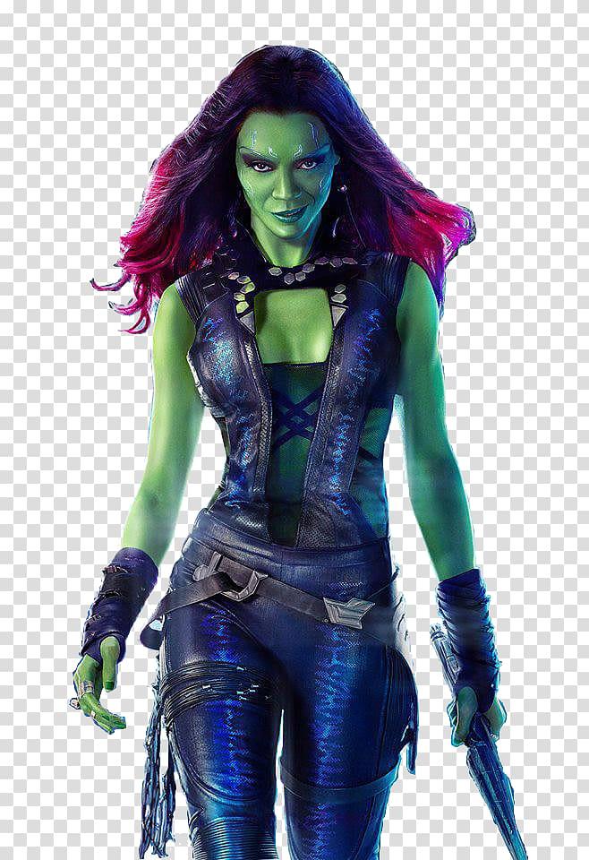 Gamora Guardians of the Galaxy Zoe Saldana Drax the.
