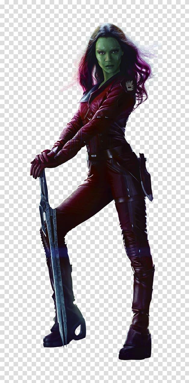 Gamora Guardians of the Galaxy Rocket Raccoon Groot Drax the.