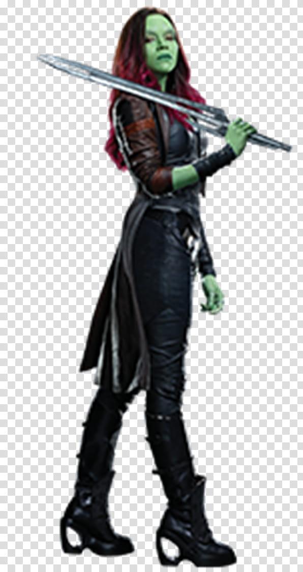 Gamora transparent background PNG clipart.