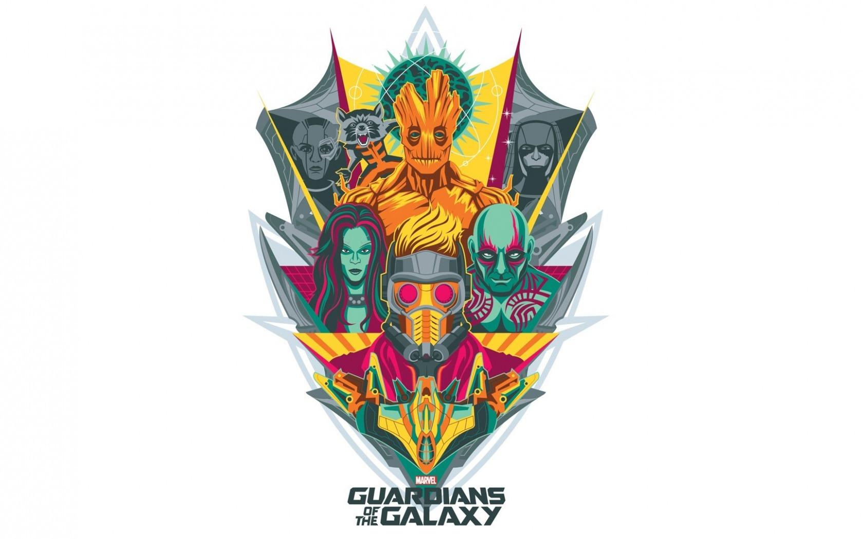 Wallpaper : illustration, logo, Gamora, Guardians of the.