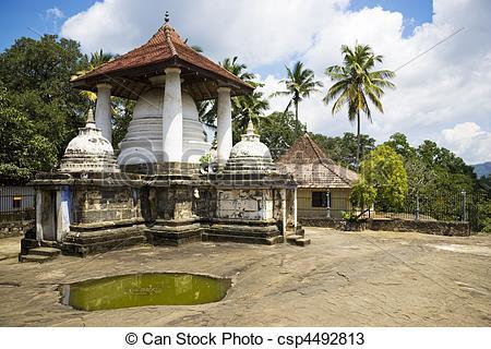Stock Photos of Gadaladeniya Temple, Kandy, Sri Lanka.