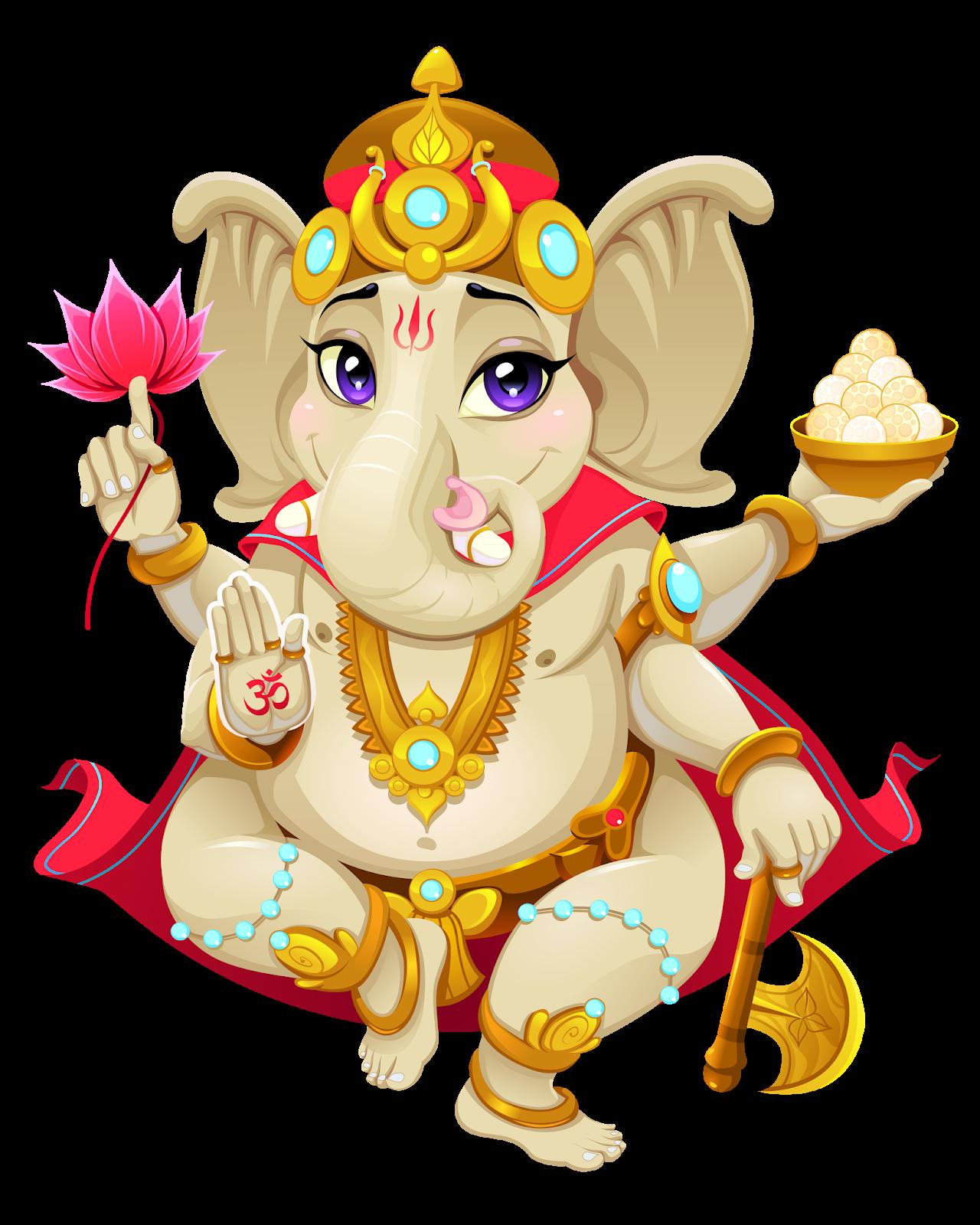 Lord Ganesha PNG Transparent Images.
