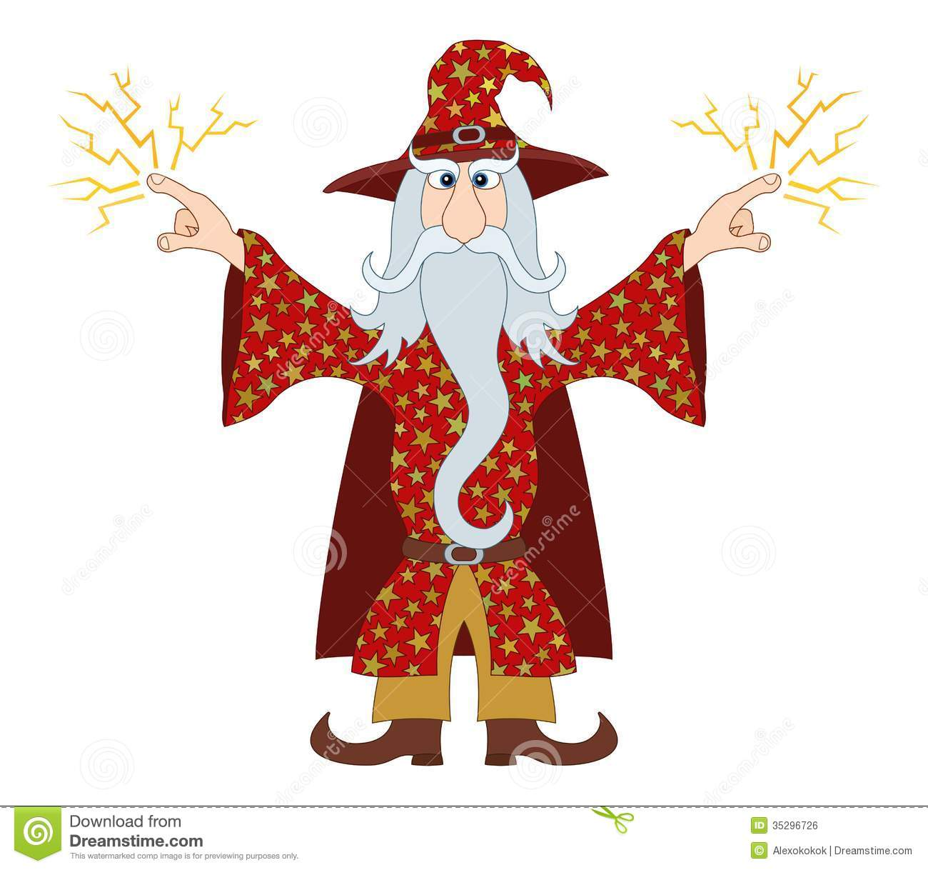 Gandalf Stock Illustrations.