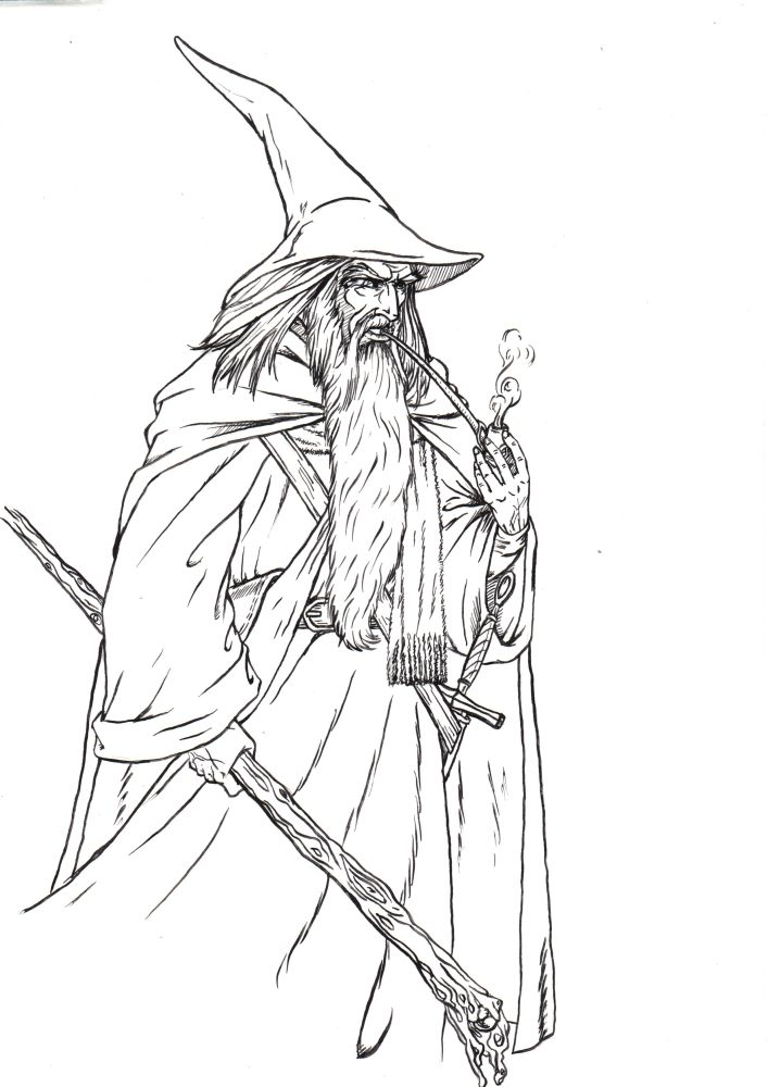 gandalf the gray coloring pages - photo#31