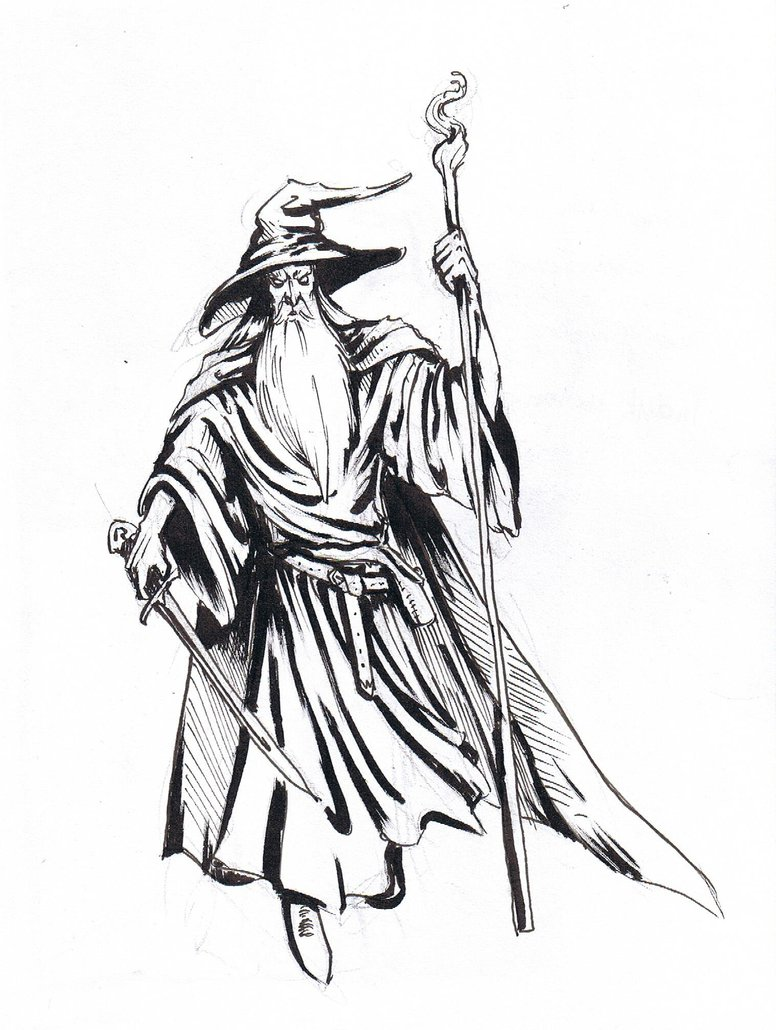 Gandalf the grey clipart.