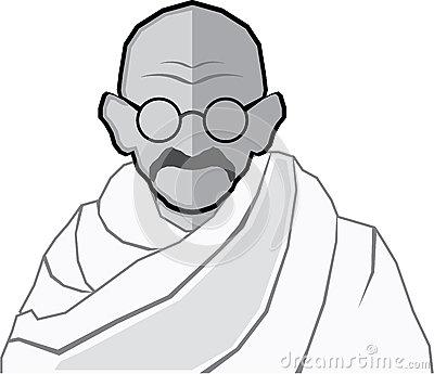 Mahatma Gandhi Art Stock Photos, Images, & Pictures.