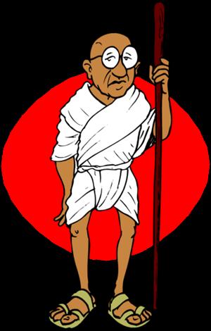 Gandhi clipart images.