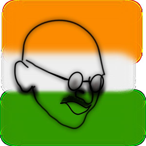 Gandhi Clip Art at Clker.com.