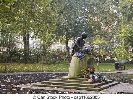 Pictures of Gandhi Statue, Tavistock Square, Lo.
