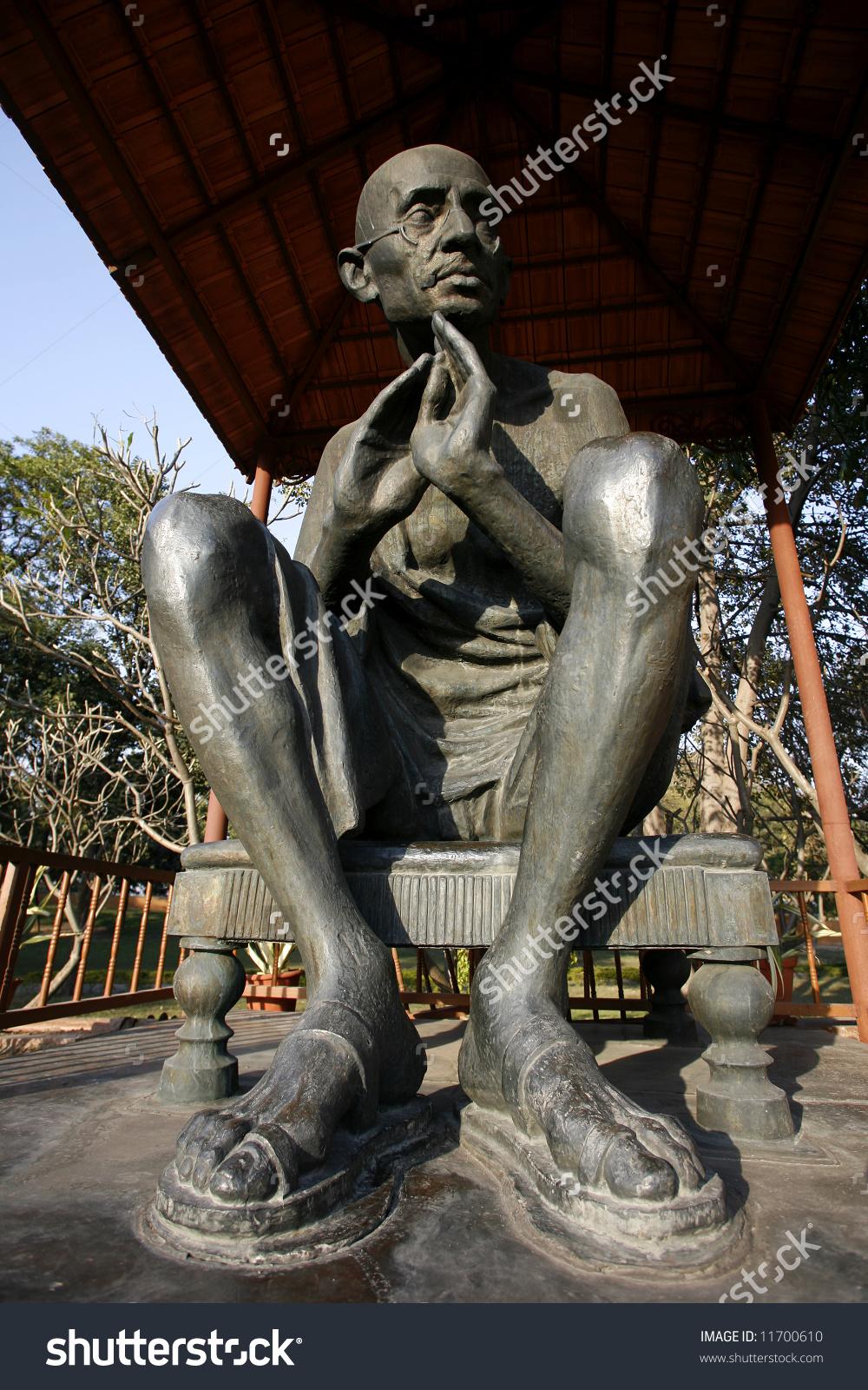 Gandhi Statue Rajghat Memorial New Delhi Stock Photo 11700610.