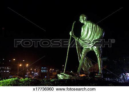 Stock Photography of Mahatma Gandhi Statue in Portblair x17736960.