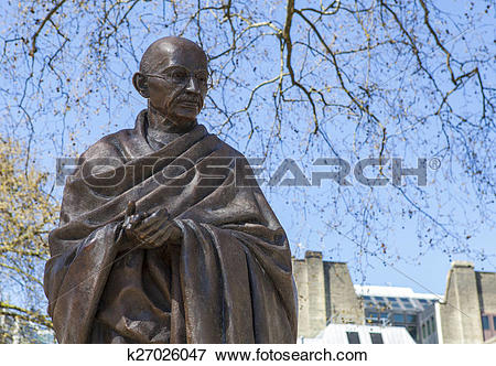Picture of Mahatma Gandhi Statue in London k27026047.