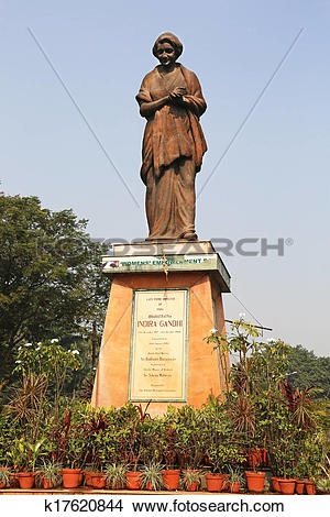 Stock Photo of Indira Gandhi Statue Calcutta India k17620844.