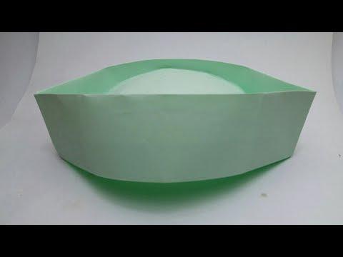 Origami Indian cap.