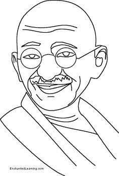 Image result for picture of mahatma gandhi for colouring.