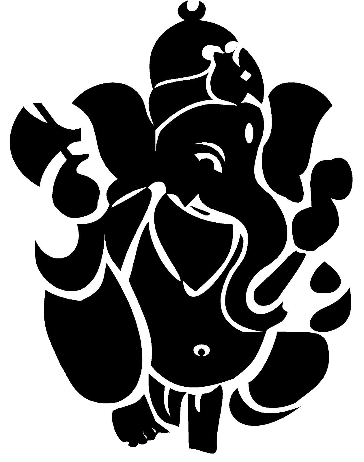 Free Ganesh Black And White, Download Free Clip Art, Free Clip Art.