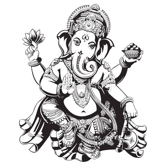 Black and White Ganesh.