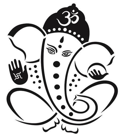 Ganesha black and white clipart 6 » Clipart Portal.