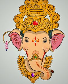 Ganesha Color Drawing at PaintingValley.com.