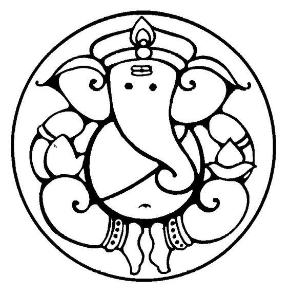 Symbolism of Lord Ganesha's form ganesha clip art round.