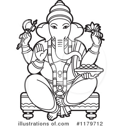 Ganesha clip art.