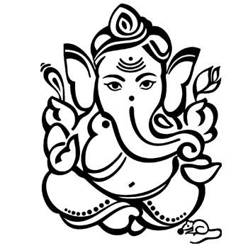 Ganesh Hindu God Clip Art.