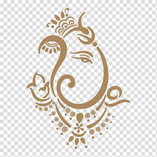 Brown abstract art illustration, Shiva Ganesha Ganesh.