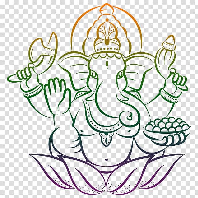 Lord Ganesha illustration, Ganesha Ganesh Chaturthi Lakshmi.