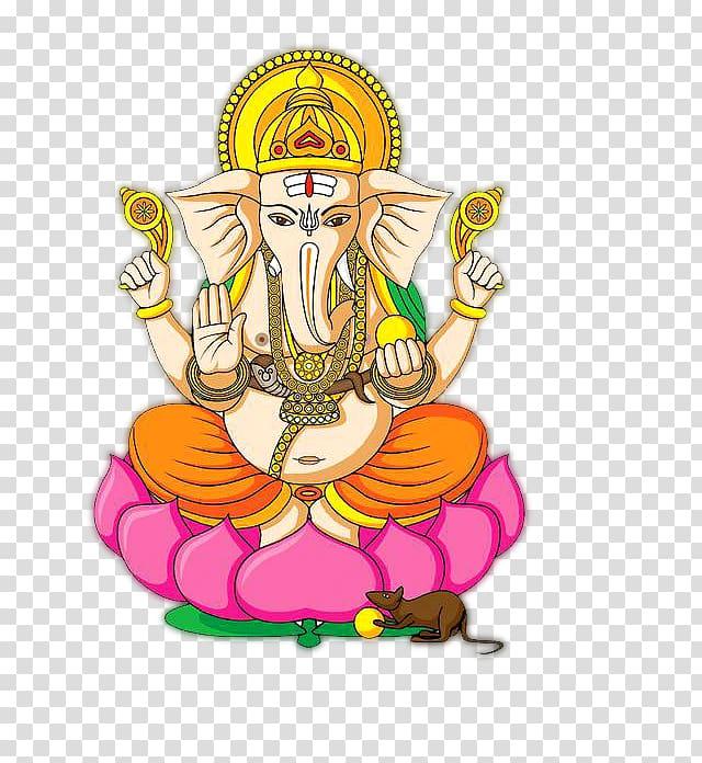 Ganesha illustration, Ganesha Ganesh Chaturthi , kalash.