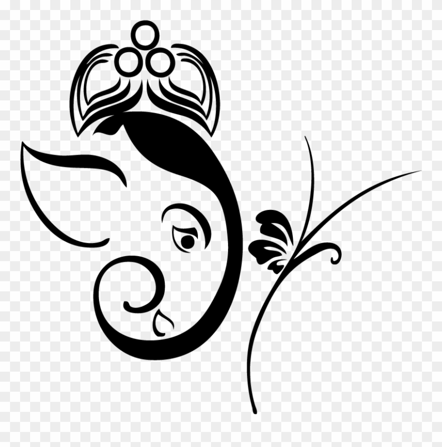 Lord Ganesha Black And White Download.