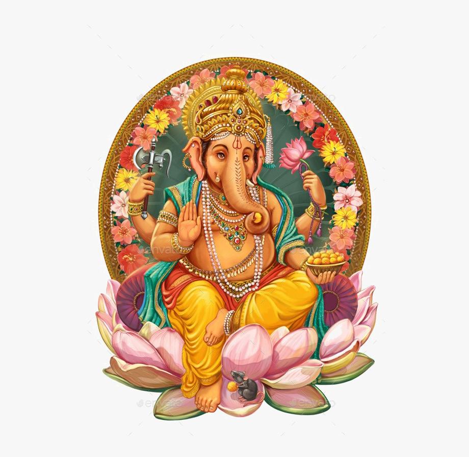 Lord Ganesha Free Png Image.