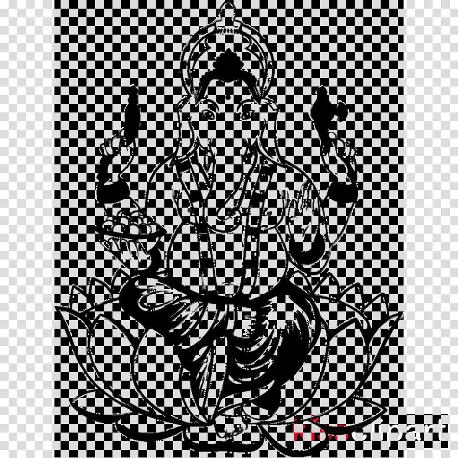 Line Art Ganesh clipart.