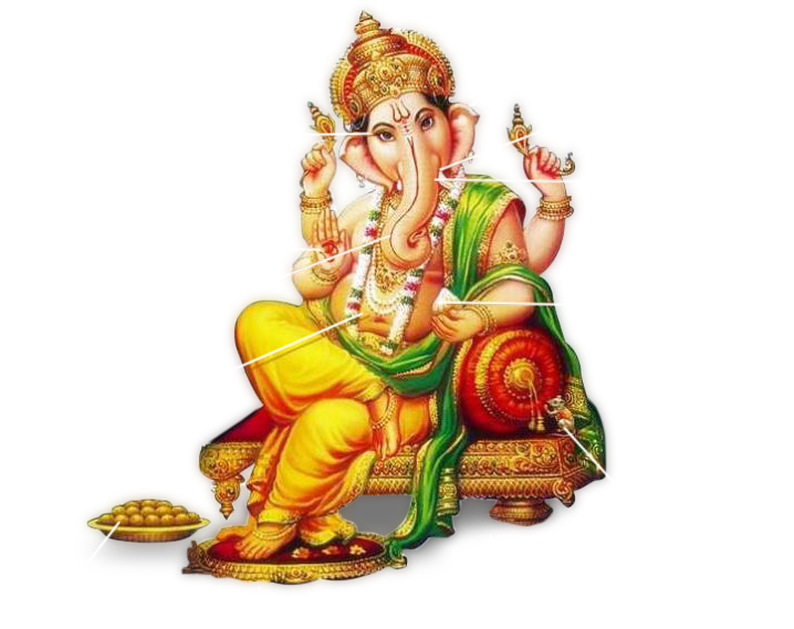 Ganesh Chaturthi PNG Transparent Images.