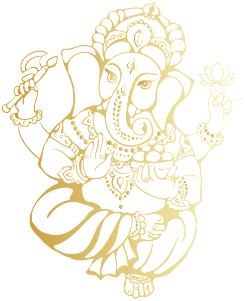 Ganesha PNG Clip Art Image.
