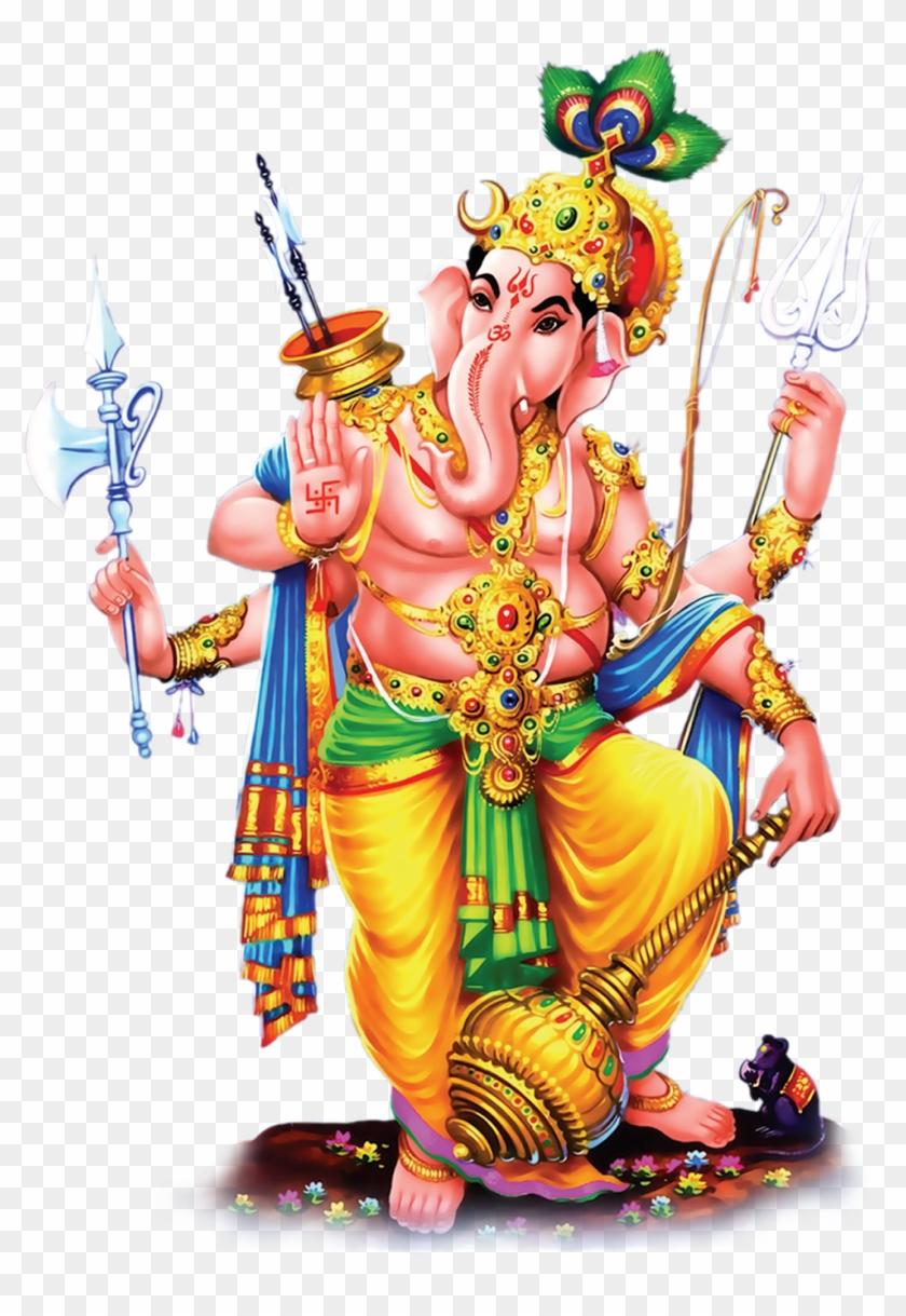 Lord Vinayaka Ganesh Standing Hd Png Images Photos.