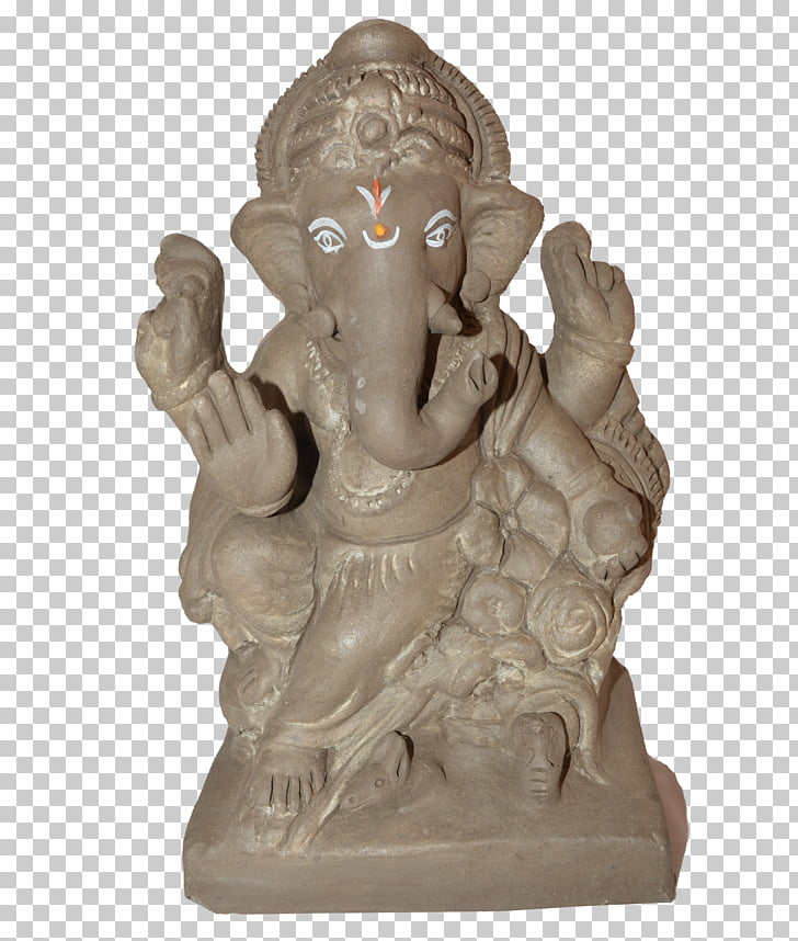 Ganesha Cult Clay Ganesh Chaturthi Murti, Lakshmi PNG.